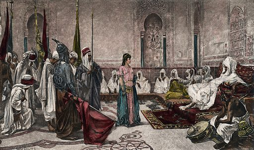 A Prisoner of State at the Alhambra. Photogravure of exceptional quality, late 19th century.