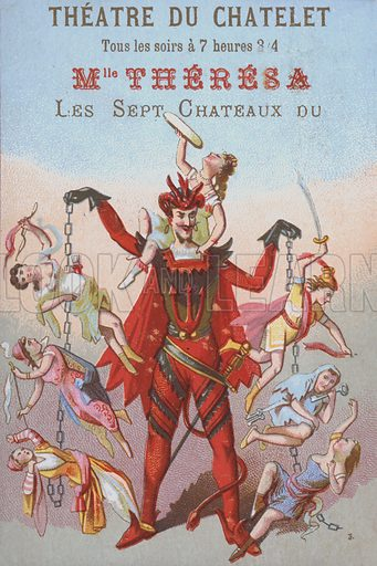 Mephistopheles dangling men and women in chains