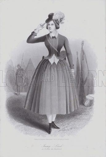 Jenny Lind.  Loose engraving.