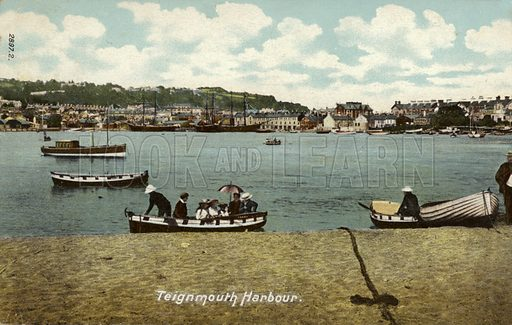 Teignmouth Harbour.
