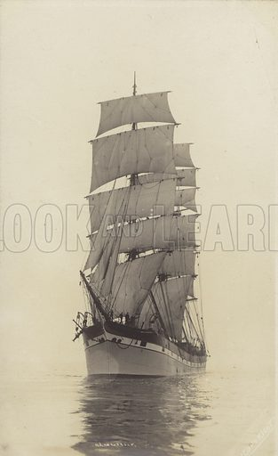 Dalgonar, one of the largest full-rigged ships ever built.