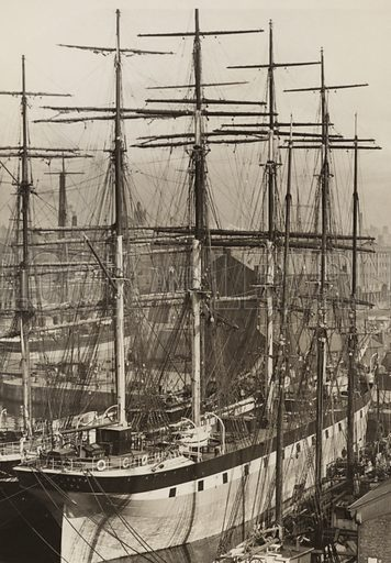 The Highfields, Salthouse Dock, Liverpool, June 1897; Melanope lying in outside berth.