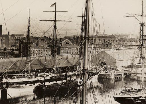 Shaw Savill's Wellington, loading in Salthouse Dock, Liverpool, 1897.