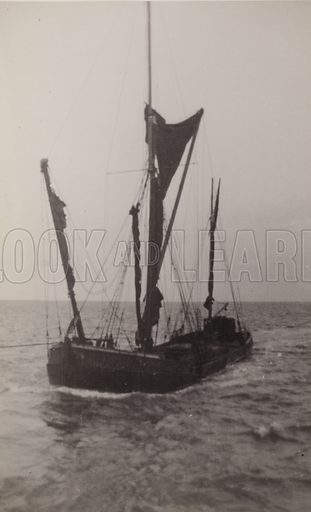 Sailing barge, Cambria, of London.