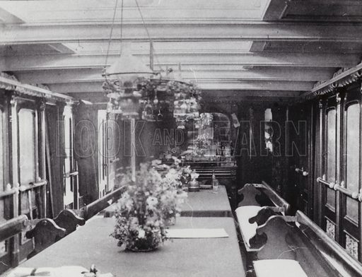 Saloon of the ship, Barossa.