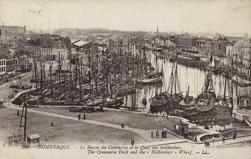 Commercial Dock and Dutch Wharf, Dunkirk, France.