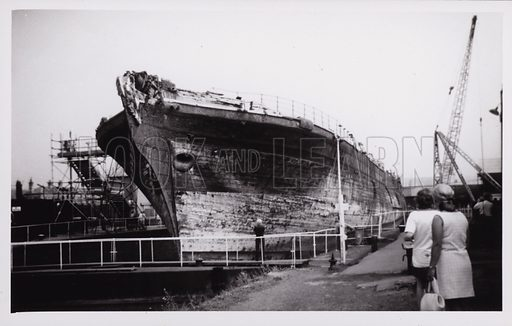 SS Great Britain, photographed in Bristol 1970.