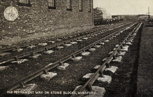 Old Permanent Way on Stone Blocks, Winsford.