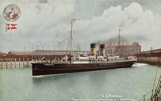 SS Hibernia, Leaving Holyhead for Dublin, North Wall.