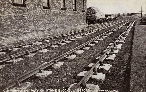 Old Permanent Way on Stone Blocks, Winsford.