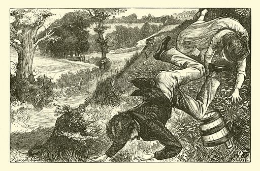 Jack and Jill. Illustration for National Nursery Rhymes set to music by J W Elliott (Novello, Ewer & Co, c 1880).