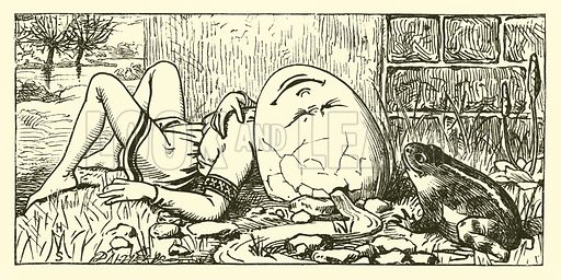 Humpty Dumpty. Illustration for National Nursery Rhymes set to music by J W Elliott (Novello, Ewer & Co, c 1880).