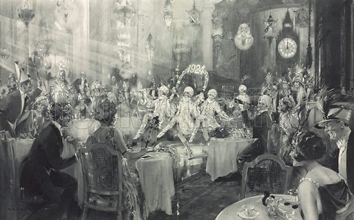 New Year's Festivities. From the Illustrated London News of 5 January 1924.
