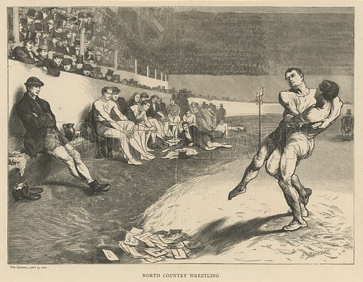 North Country Wrestling. From The Graphic 30 April 1870.