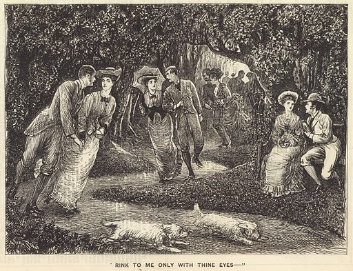 Rink to me only with thine eyes. From Punch 18 March 1876.