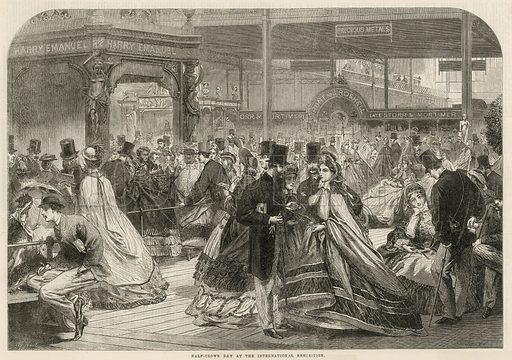 Half-crown day at the International Exhibition 1862. From the Illustrated London News 30 August 1862.