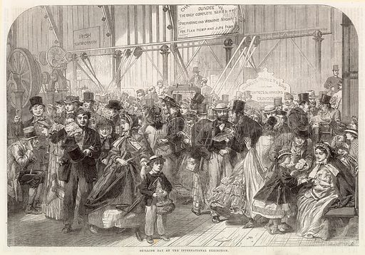 Shilling day at the International Exhibition 1862. From the Illustrated London News of 30 August 1862.