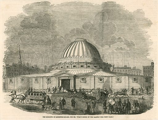 The Building in Leicester Square, for Mr Wyld's model of the earth. From the Illustrated London News 29 May 1851.