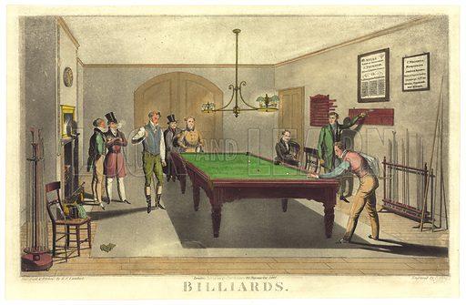 Game of Billiards, 1827