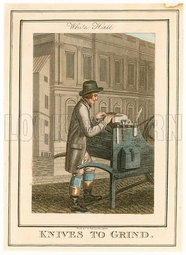 White Hall. Knives to Grind. Cries of London. Published 1804.