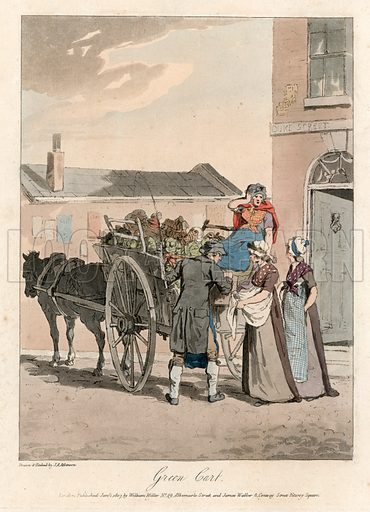 Green cart. Cries of London. Published 1807.