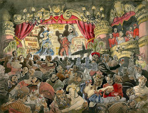 Music Hall. Original artwork.