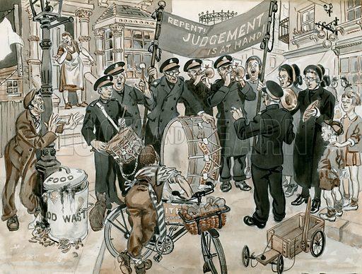 Salvation army. Original artwork.