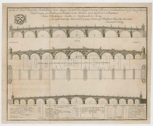 Edward Oakley's designs for Blackfriars Bridge.