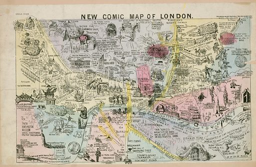 New Comic Map of London.