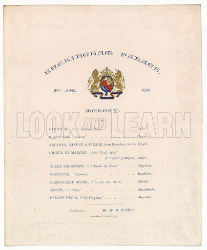 Buckingham Palace Concert, 22 June 1868.