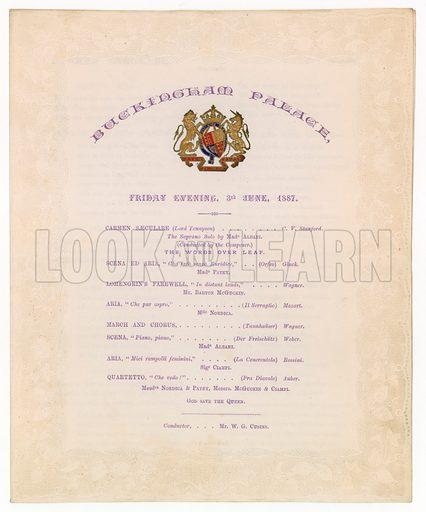 Buckingham Palace Concert, 3 June 1887.