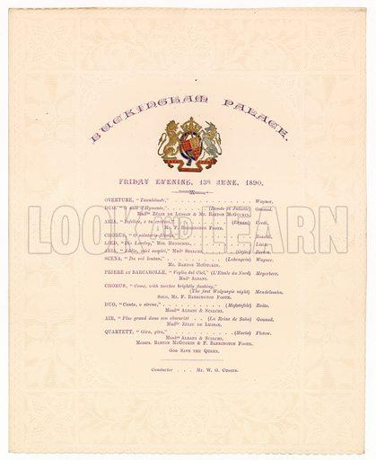Buckingham Palace Concert, 13 June 1890.