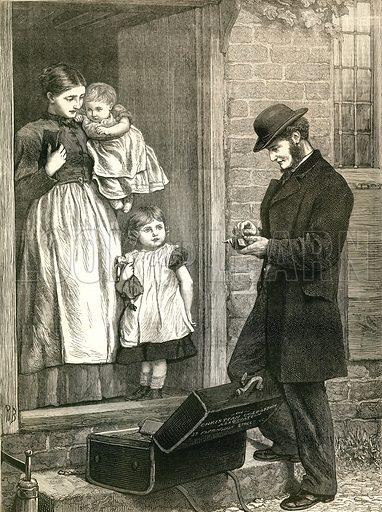 Colporteur. From the British Workman 1877.
