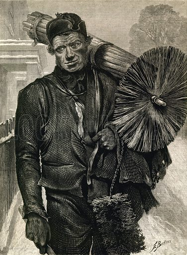 Chimney Sweep. From the British Workman, December 1877.