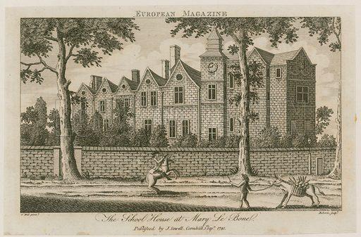 The School House at Marylebone, London. Published 1790.