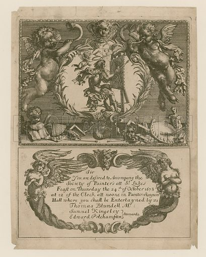 Invitation to the Society of Painters for 24 October 1678.