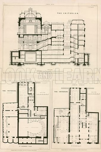 Plans of The Criterion Theatre.