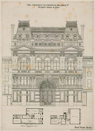Design for The Criterion Theatre, London.