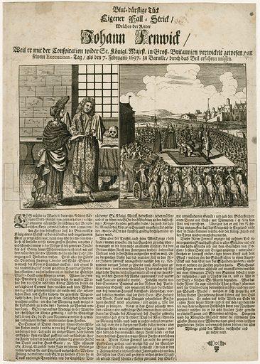 Execution of Sir John Fenwick.