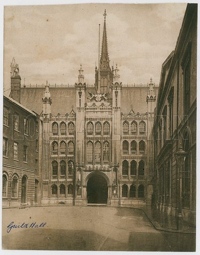 Guildhall, London. Victorian photograph.