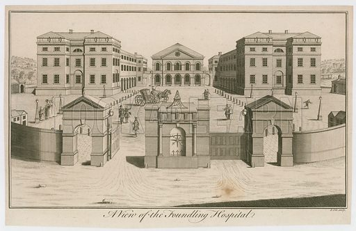 A View of the Foundling Hospital, London.