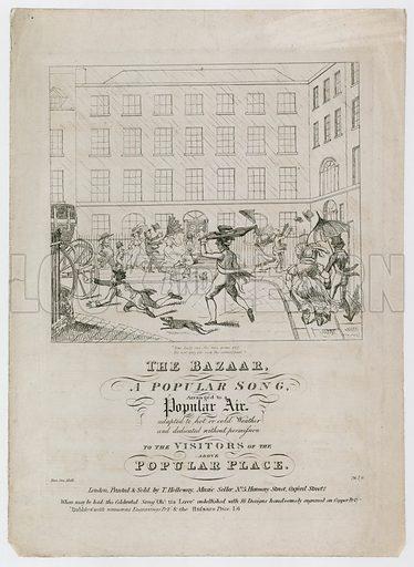 The Bazaar, a popular song. Sheet music.