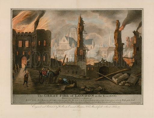The Great Fire of London in 1666.