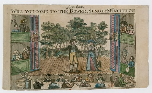 Will you come to the bower, sung by Mr Incledon.