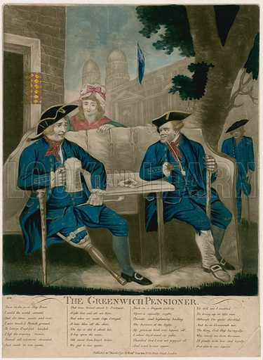The Greenwich Pensioner. Published 1791.