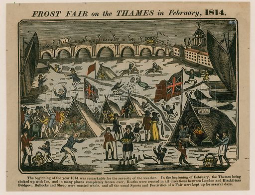 Frost Fair on the Thames, 1814.