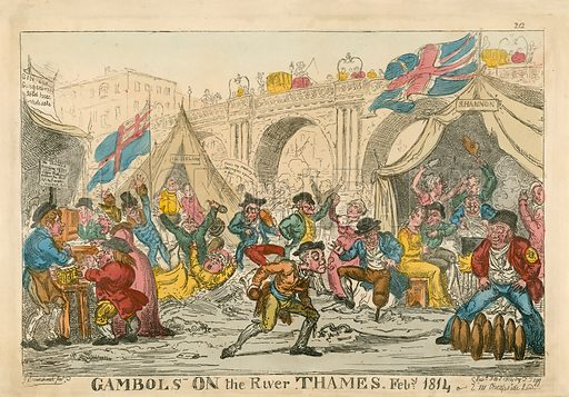 Gambols on the River Thames, February 1814.