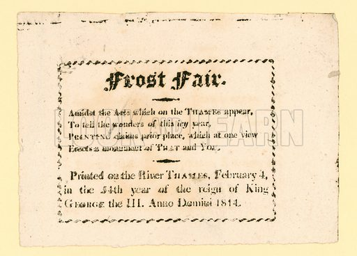 Frost Fair of 1814.