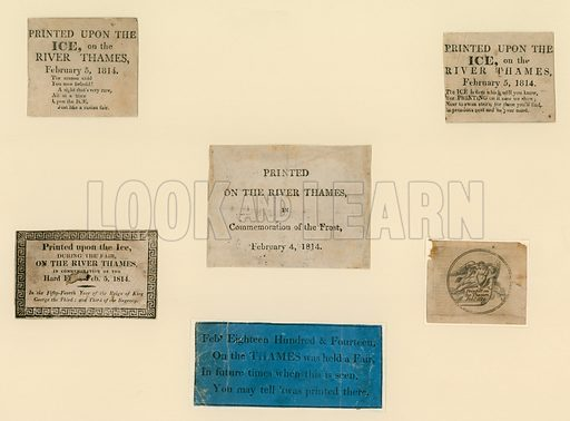 Printed souvenirs of the frost fair of 1814.
