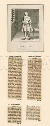 James Hall. Executed for murder, 1741.